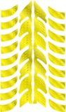 guld- tryckgummihjul Royaltyfri Fotografi