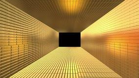 Guld- tunnel som göras från guld- stänger som in zoomar stock illustrationer