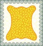 guld- ullbeklädnad Fotografering för Bildbyråer