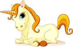 guld- unicorn Royaltyfri Foto