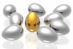guld- unikt för ägg Royaltyfri Fotografi