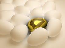 guld- unikt för ägg Fotografering för Bildbyråer