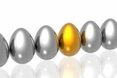 guld- unikt för ägg Royaltyfria Foton