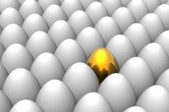 guld- unikt för easter ägg Arkivfoton
