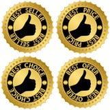 Guld- uppsättning för bästa certifikat Arkivbilder