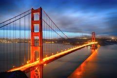 Guld- utfärda utegångsförbud för överbryggar, San Francisco royaltyfri bild