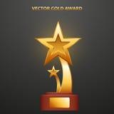 Guld- utmärkelse i form av stjärnor Royaltyfri Fotografi