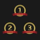 Guld- utmärkelser med band Royaltyfria Foton
