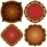 guld- utsmyckat för dekorativa ramar Royaltyfri Bild