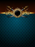 guld- utsmyckat för ram royaltyfri illustrationer