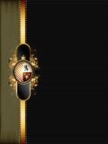 guld- utsmyckat för ram vektor illustrationer