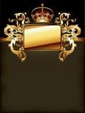 guld- utsmyckat för ram stock illustrationer