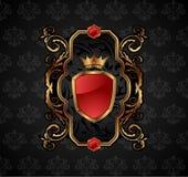 guld- utsmyckat för dekorativ ram Royaltyfri Fotografi