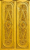 guld- vägg Arkivbild