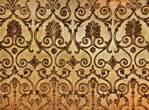 guld- vägg Arkivfoton