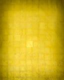Guld- väggtextur Fotografering för Bildbyråer