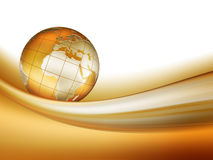 guld- värld Arkivbilder