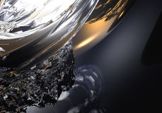 guld- vätskesphere för silver 02 Arkivfoton