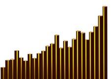 guld- växande trend 3d vektor illustrationer