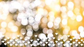 Guld- vår eller sommarbakgrund Eleganta abstrakta bakgrundswi Arkivfoton