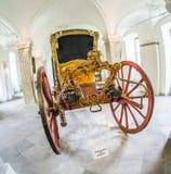 Guld- vagn i den Fasanerie slotten i Eichenzell Royaltyfri Fotografi