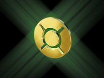 Guld- valuta för valutasymbol royaltyfri illustrationer