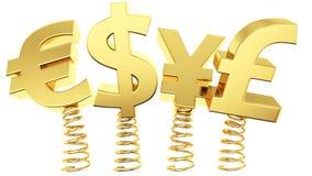 Böjliga valutakursar stock illustrationer