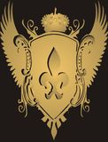 guld- vapen Royaltyfri Foto