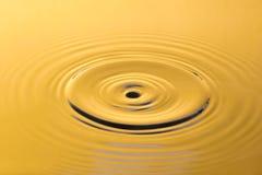 Guld- vatten och vattendroppe Royaltyfria Bilder