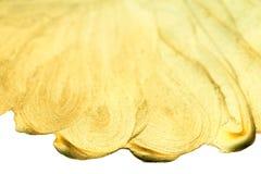 Guld- vattenfärgdroppe Abstrakt guld som blänker texturerad konst W Royaltyfri Bild