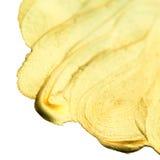 Guld- vattenfärgdroppe Abstrakt guld som blänker texturerad konst W Arkivbilder