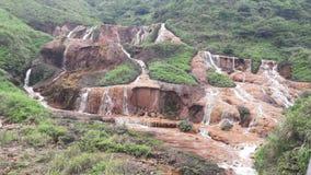 guld- vattenfall Royaltyfria Bilder