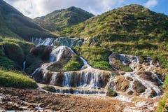 guld- vattenfall Royaltyfri Fotografi