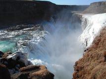 Guld- vattenfallgutlfoss Royaltyfri Bild