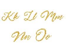 guld- vektor för alfabet Royaltyfri Foto