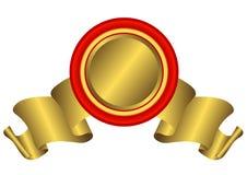 guld- vektor för bannerl Arkivfoto