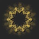 Guld- vektorram Arkivfoto