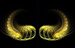 guld- vingar Arkivbilder