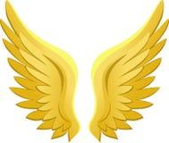 guld- vingar för ängeleps Arkivfoto