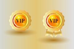 Guld- bakgrund för VIP-emblem Fotografering för Bildbyråer