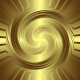 Guld- virvel bakgrund Arkivfoto