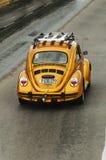 Guld- Volkswagen Beetle Royaltyfria Foton
