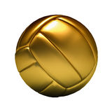 guld- volleyboll Royaltyfri Bild