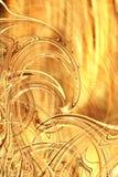 guld- waves Fotografering för Bildbyråer