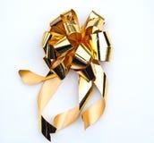 guld- white för bakgrundsbow Royaltyfri Fotografi