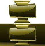 Guld- widescreen bakgrund eps10 för skärmpanelboardorigami Royaltyfri Fotografi