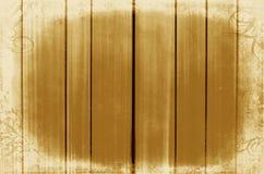 Guld- wood paneler som används som bakgrund Ram Arkivbilder