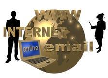 Guld- world wide web Royaltyfri Fotografi
