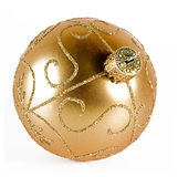 guld- xmas för boll Royaltyfria Foton