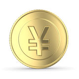 Guld- yen stock illustrationer